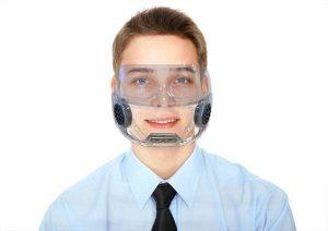 masque protection transparent en silicone